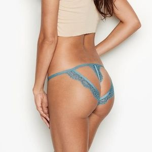 Victoria's Secret Blue Lace Cutout String Bikini